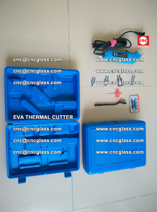 EVA THERMAL CUTTER, Cleaning EVA laminated glass edges (36)