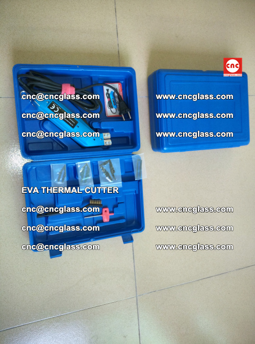 EVA THERMAL CUTTER, Cleaning EVA laminated glass edges (4)