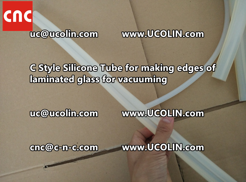 C Style Silicone Tube for making edges of laminated glass for vacuuming (3)