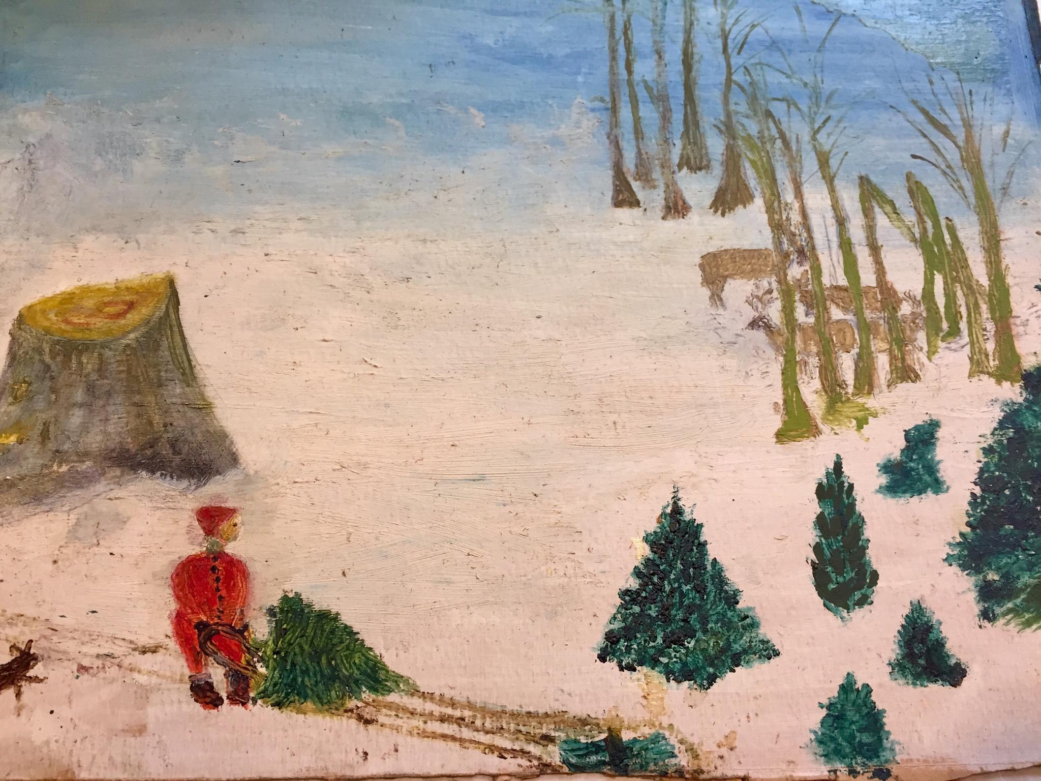 1930s Child's Christmas Art