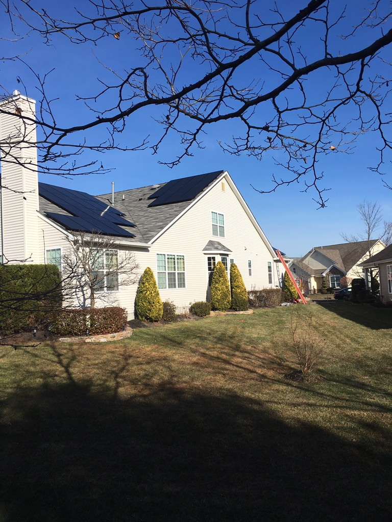 Home with solar in New Jersey, installed by solar company