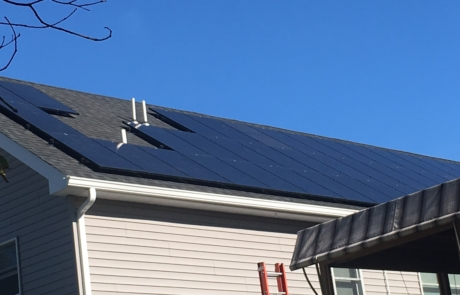 Example of Solar Panels installed on house in NJ or NY