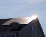 NJ home with solar panels on roof.