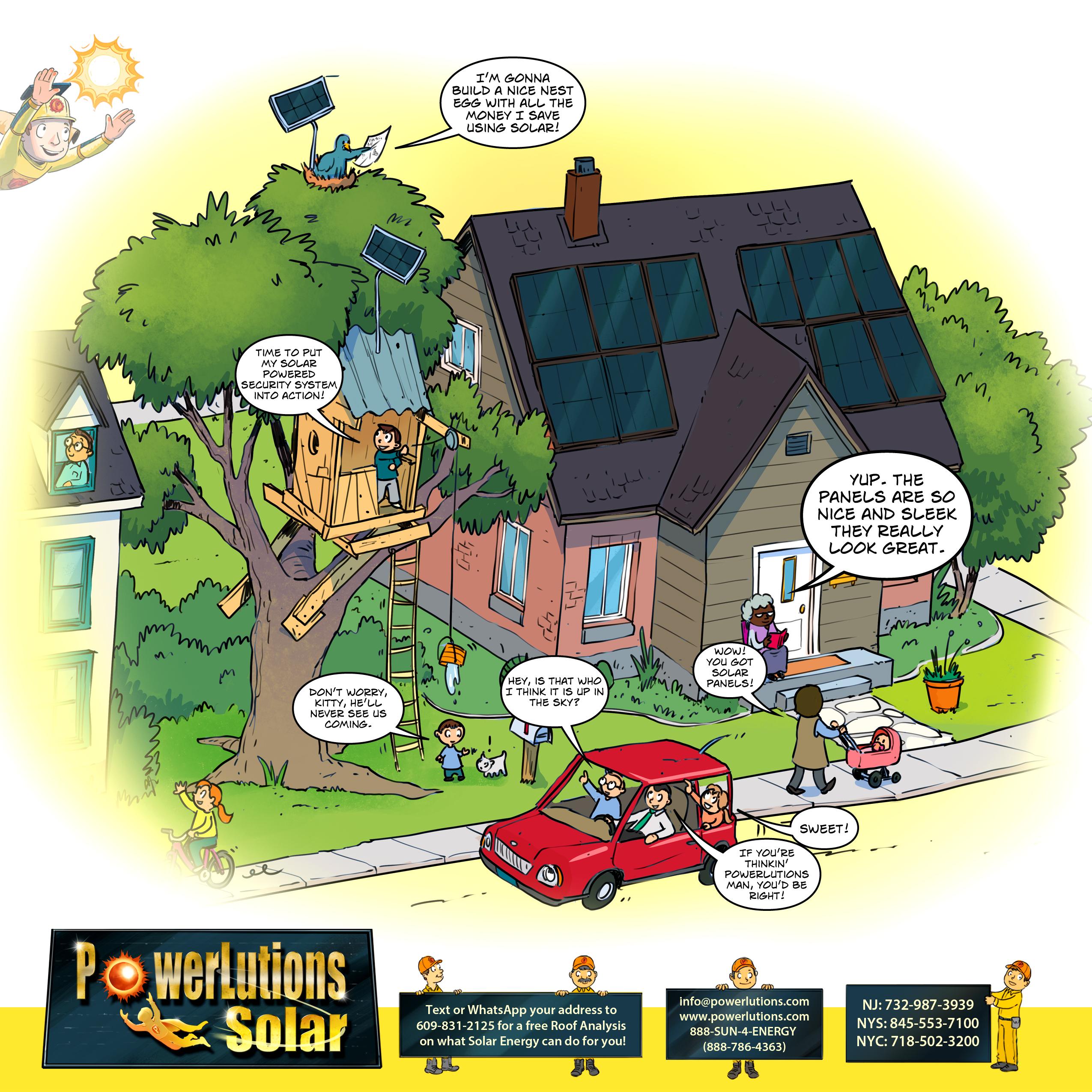 PowerLutions Solar installs good looking solar panel systems.