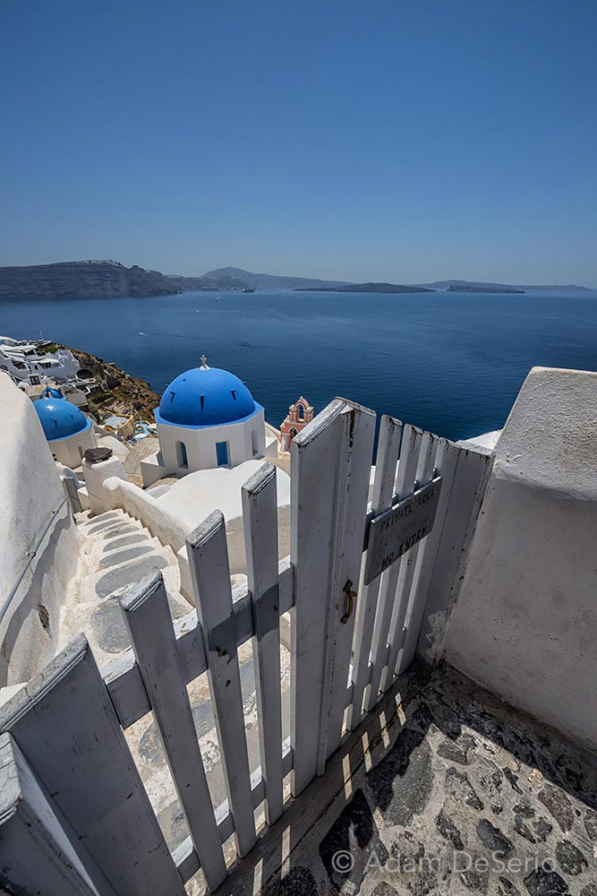 Blue Dome Fence, Santorini