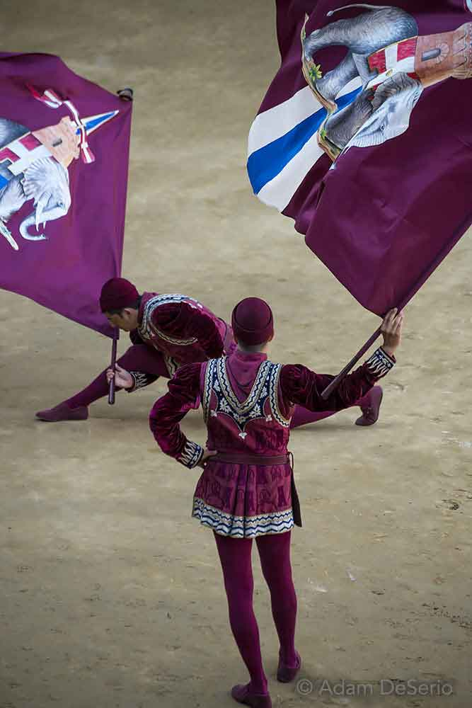Bow To The Flags, Palio, Siena, Italy