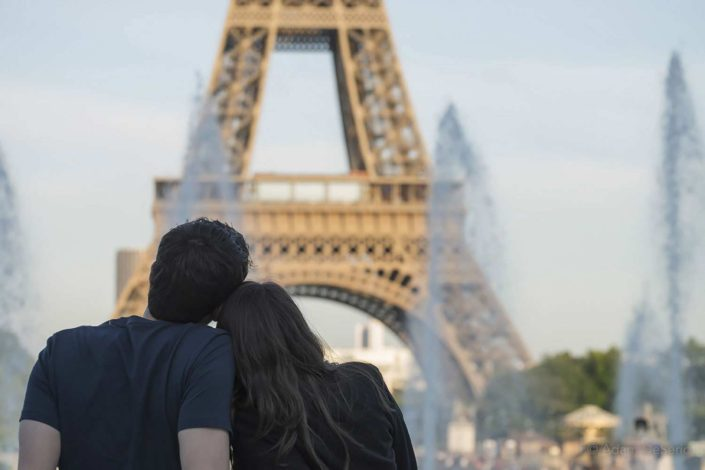 Eiffel Tower Couple, Paris
