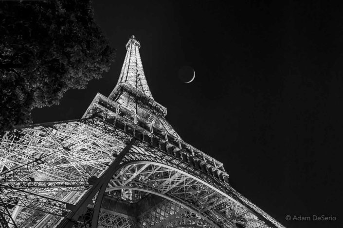 Eiffel Tower Moon, Paris