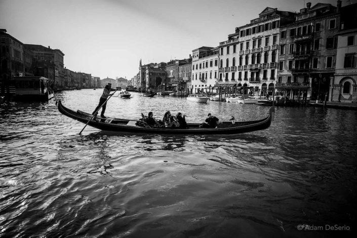 Gondola Grand Canal BW, Venice
