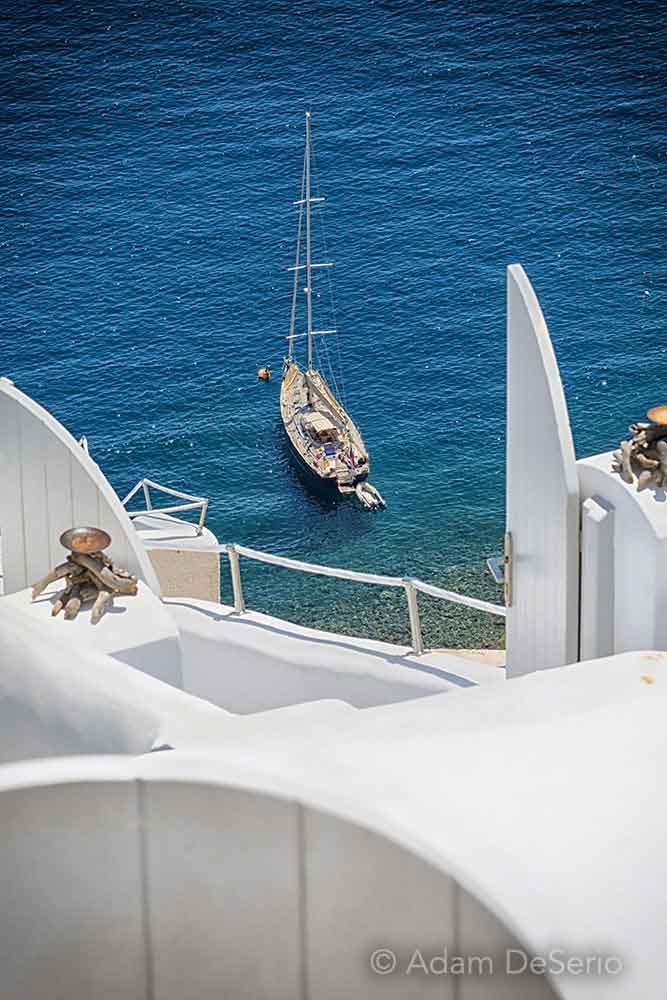 Sailboat, Santorini