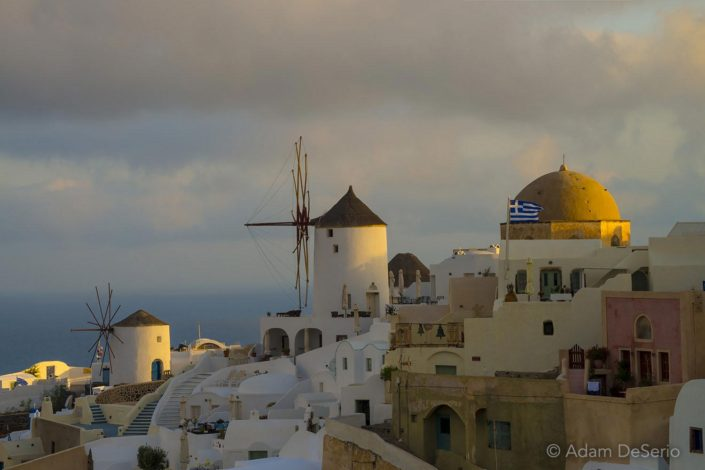 Santorini Sunrise Windmills