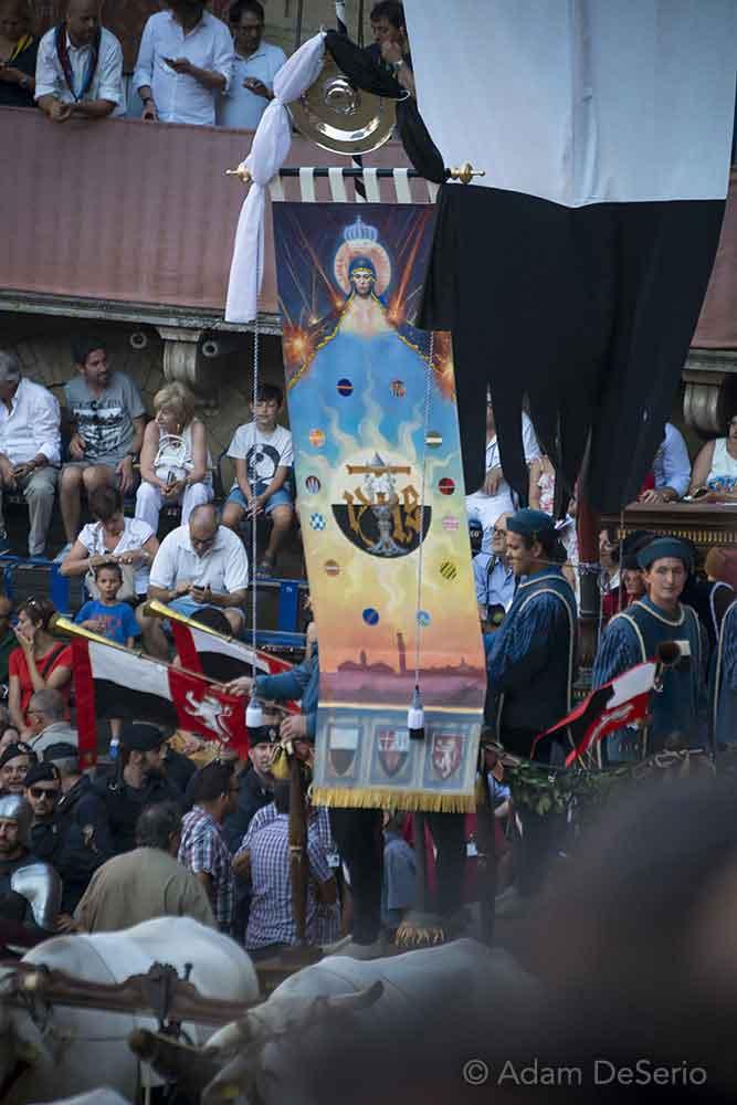 The Palio Flag, Palio, Siena, Italy