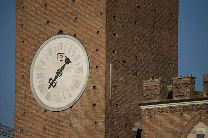 Tower Clock, Palio, Siena, Italy