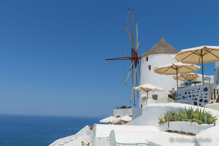 Windmill Blue, Santorini