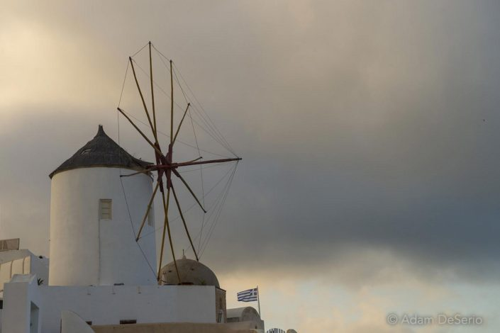 Windmill In The Clouds, Santorini