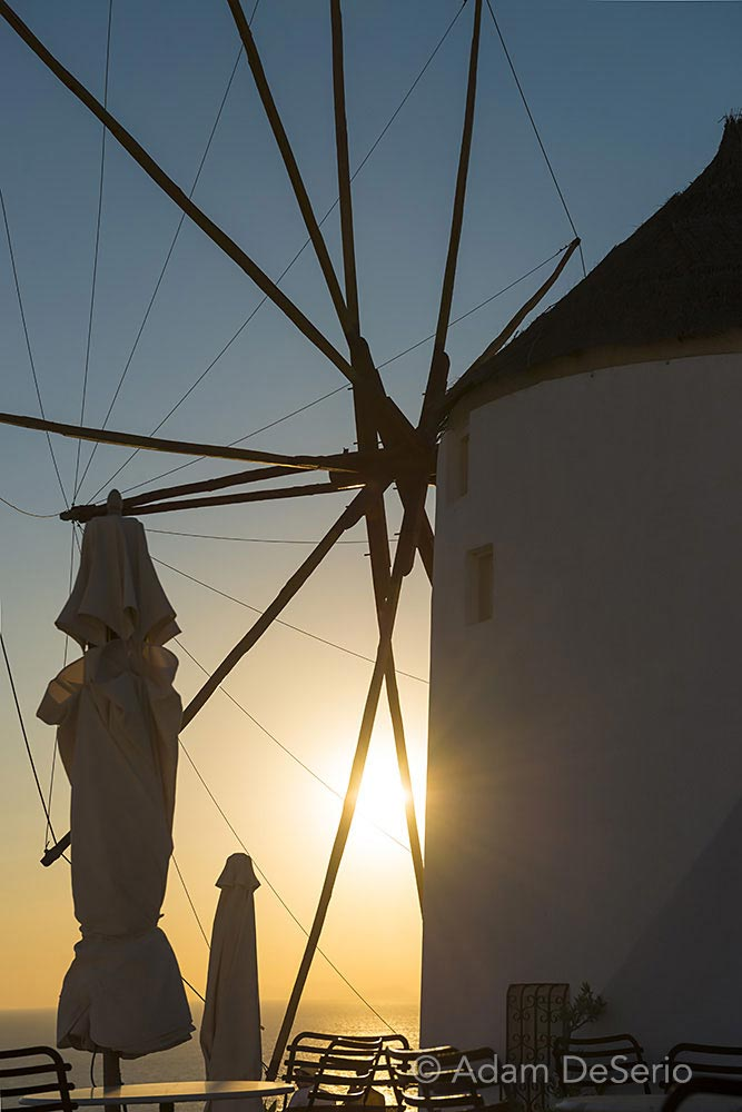 Windmill Sunset Close, Santorini