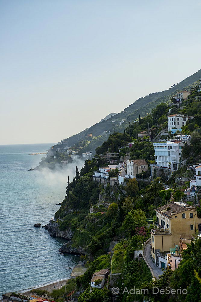 Amalfi Coast Fog, Naples, Italy