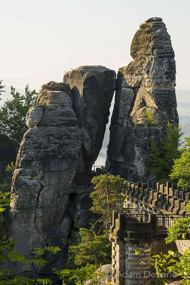 Bridge of Bastei Close, Germany