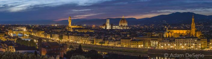 Florence City Line After Dark