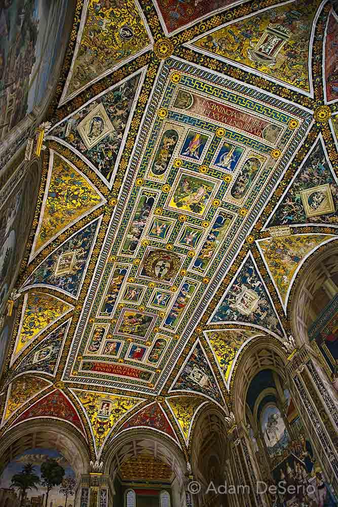 Inside Siena Duomo Ceiling, Italy