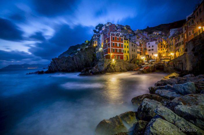 Riomaggiore Dusk, Cinque Terre, Italy