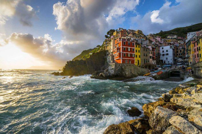 Riomaggiore Sunset, Cinque Terre, Italy