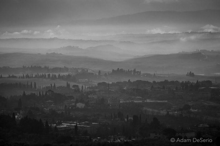 Siena Tuscany View Black and White, Italy