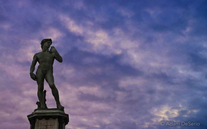 Sunset David, Florence, Italy