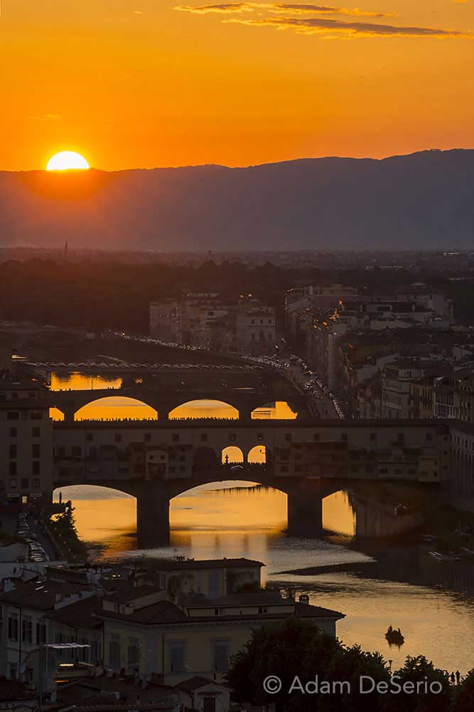 Sunset On The River Florence, Italy