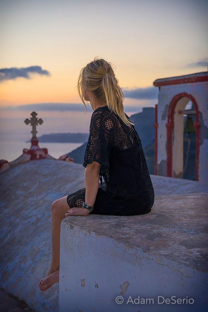 Santorini Church Sunset