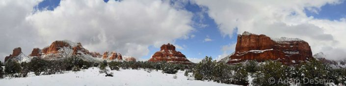 Huge Pano of Sedona Snow, Arizona