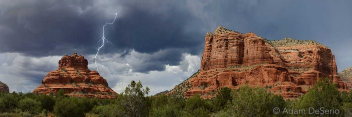 Lightning Over Bell Rock, Sedona, Arizona