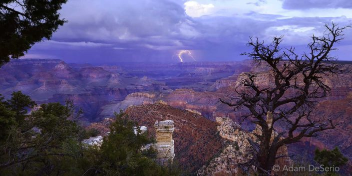 Lightning Over Grandview Vista, Grand Canyon, Arizona
