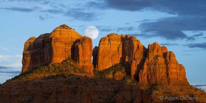 Moonrise, Cathedral Rock, Sedona, Arizona