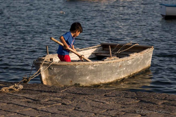 Sicilian Boy And His Boat