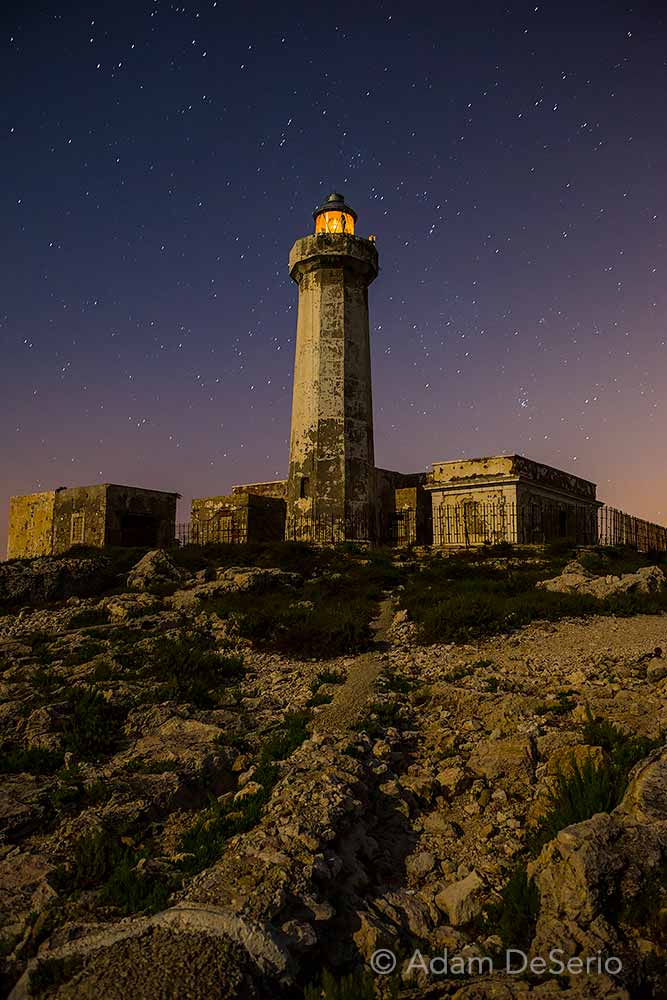 Sicilian Faro At Night