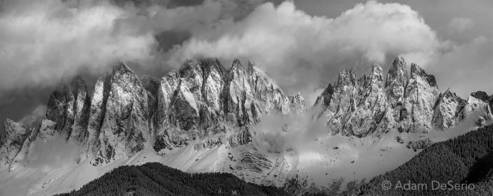 The Dolomites B&W