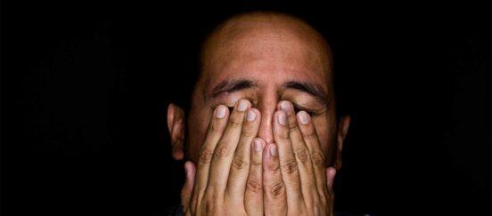 photo of stressed man