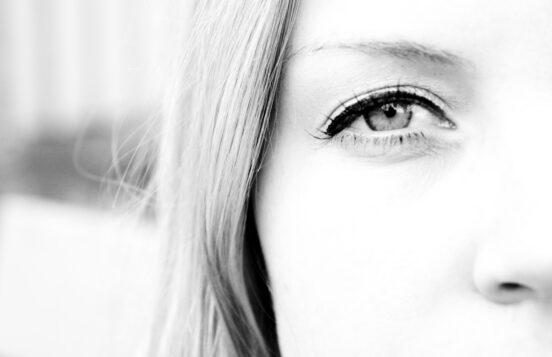 photo of woman's face closeup