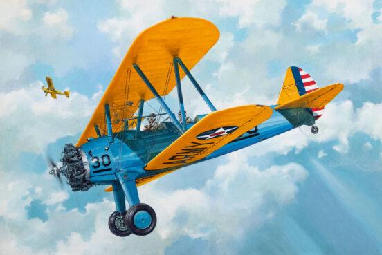 photo of Stearman biplane