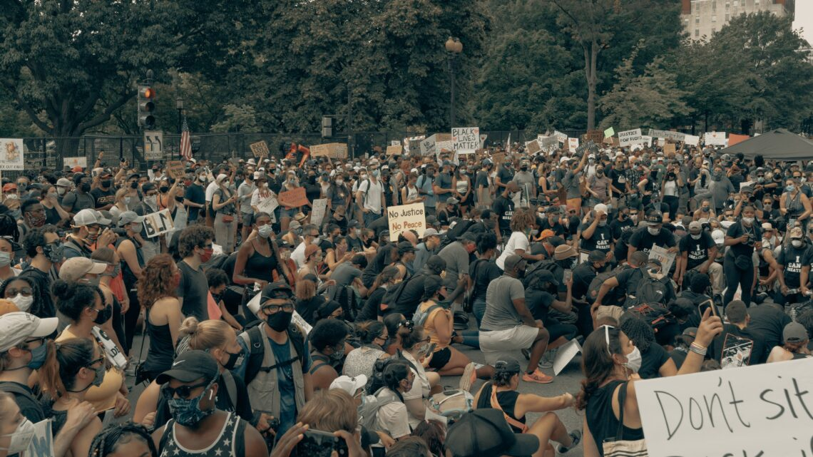 Photo of BLM protest, by Clay Banks on Unsplash