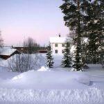 photo of Ochsner house in snow