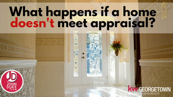what if a home doesn't meet appraisal_