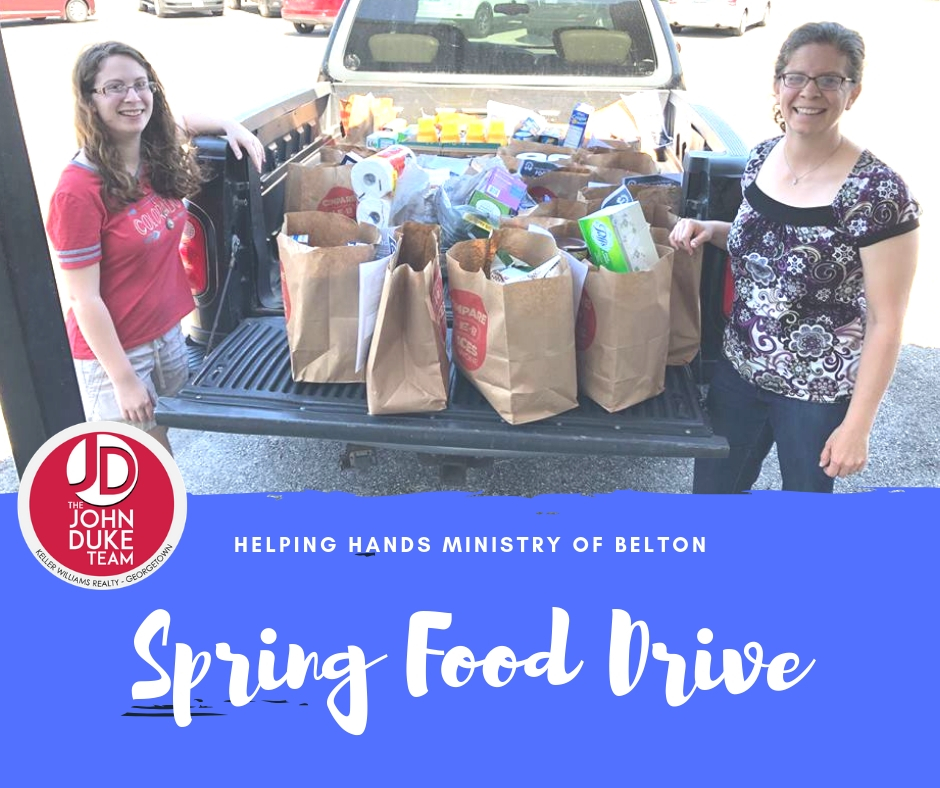 Helping Hands of Belton Spring Food Drive