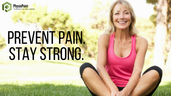 Prevent Pain. Stay Strong