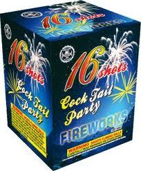 Cocktail Party - 16 Shots - 200 Gram Aerials - Fireworks