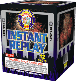Instant Replay - 12 Shots - 200 Gram Aerials - Fireworks