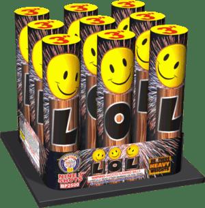 "LOL - 9 Shots - 3"" 500 Gram Aerial -Fireworks"