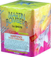 Martin Bombers - 16 Shots - 200 GRam Aerials - Fireworks