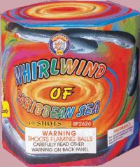 Whirlwind Of Caribbean Sea - 19 Shots - 200 Gram Aerials - Fireworks